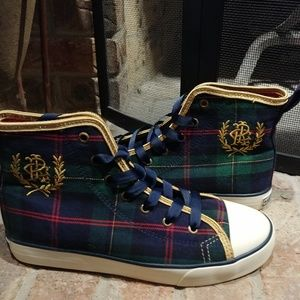 Women's size 4.5 Ralph Lauren high top sneakers